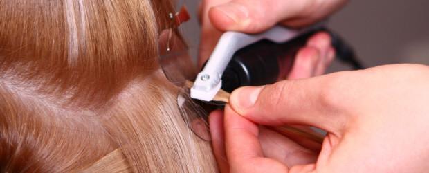 Prodlužování vlasů keratinem vlasový spoj